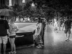 Looking for  a name (C@mera M@n) Tags: 911memorial blackandwhite city manhattan monochrome ny nyc newyork newyorkcity newyorkcityphotography newyorkphotography places rain urban outdoors urbanpark