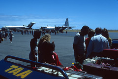 Adelaide Airport 1975 (adelaidefire) Tags: kodachrome adelaide airport ypad 1975 taa boeing 727 vhtbh