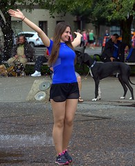 Open Arms (swong95765) Tags: woman happy arms outstretched female lady smile smiling fountain