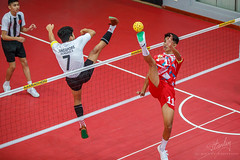 ASEAN School Games- Sepak Takraw (REVIT PHOTO'S) Tags: sepak takraw sepakraga sport aseanschoolgames asean footvolleyball stunt singaporeschool