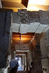 Keystone archways under the Colosseum