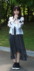 Believe Her When You See Her (emotiroi auranaut) Tags: woman lady pretty lovely beauty beautiful gorgeous attractive female feminine femininity park skirt shoes polkadots black white asia asian japan japanese nagoya nice sweet charm charming cute adorable