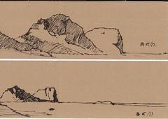 Lord Howe napkin sketches (panda1.grafix) Tags: lordhoweisland napkinsketch seascape landscapesketch