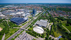 Olympiaturm North-East view, München, 20170527 (G · RTM) Tags: bmwwelt headquarters bmw münchen munich olympiaturm bmwmuseum olympia eisstadion soccarena
