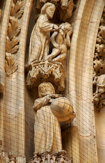 Worms, Dom St. Peter, Südportal, Erschaffung Evas und der Welt ((St. Peter's Cathedral, southern portal, Creation of Eve and the World)