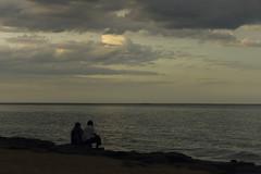 Sunset at the promeande (Balaji Bharadwaj) Tags: pondicherry promenade beach seaside breeze sunset evening
