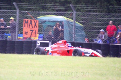 Ayrton Simmons in British F4 during the BTCC weekend at Croft, June 2017