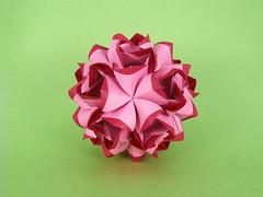 С Днем Рождения, Наташа! (masha_losk) Tags: kusudama кусудама origamiwork origamiart foliage origami paper paperfolding modularorigami unitorigami модульноеоригами оригами бумага folded symmetry design handmade art