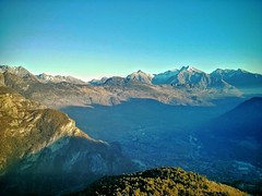 Chatillon view (Giuseppe 93) Tags: landscape landscapes bestlandscape valledaosta italia italy bellaitalia sunset contrast light colors sky blue mountains alps magicmoment city autofocus enjoy view outdoor travel season rocks nature naturethebest lovelandscapes ngc