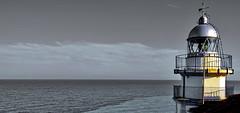 The Lighthouse (gerard eder) Tags: world travel reise viajes europa europe españa spain spanien valencia lighthouse leuchtturm faro mediterraneo mediterranean mittelmeer meer sea wasser water outdoor peñíscola costa coastline costaazahar horizon horizont horizonte