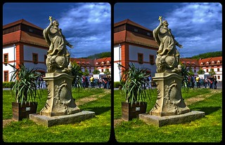 St. Marienthal Abbey 3-D / Stereoscopy / CrossView / HDR / Raw