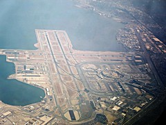 SFO (kenjet) Tags: aerial aerialview inflight airport sf sfo ksfo runway terminal fromthewindow windowseat windowview