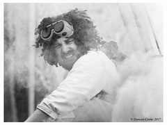B57I8087-Professor-Pumpernickel-b&w (duncancooke.happydayz) Tags: professor pumpernickel another fine fest 2017 ulverton cumbria cumbrian festival festivals music street entertainment entertainer dave crossley