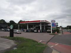 Esso - Centurion Service Station, A5 Watling Street, Dordon, Warwickshire (christopherbarker13) Tags: esso exxon petrolstation garage centurionservicestation a5 watlingstreet dordon warwickshire