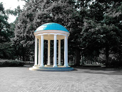 Old Well @ UNC Chapel Hill Campus (Shawn Blanchard) Tags: nc northcarolina hill chapel old well campus college blue white color black blackandwhite bw blackwhite architecture art columns trees famous landmark tar heel unc america usa light