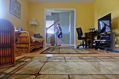 Doing My Domestic Engineering! (A Tiny Break From The Rain) Tags: jozimny vacuuming housework livingroom