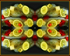 Lemons & Fish (Cliff Michaels) Tags: iphone iphone6 photoshop pse9 food lemon fish