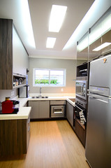 Kitchen renovation 2017 (renata_souza_e_souza) Tags: cozinha casa cinza kitchen gray brasil brazil interiores decoracao decor renovation piso bege vinilico beige flooring