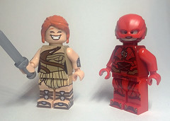A little something I put together today! And a Flash. :P (Catanas) Tags: lego dc wonder woman superheroes the flash dceu
