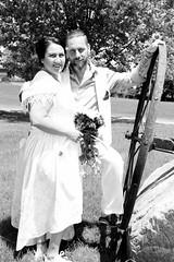 IMG_7082 (quebecman) Tags: wedding mariage couple amour amoureux vintage antique bw nb portrait love