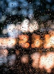 bokeh rain (marianna_a.) Tags: p1380263 p1380272 bokeh rain drops window pane glass trees water reflection river sunset mariannaarmata