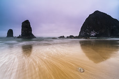 Cannon Beach II (IanLudwig) Tags: vsco sony ilce7rm2 sonyilce7rm2 a7rii sonya7rii sonyalpha sonyalphaa7rii surf beach beaches clouds reef sand sunset waves haystackrock cannonbeach cpl rgnd leefilters batis2818 batis zeiss zeissbatis2818