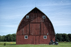 Rural Southeastern Wisconsin - Racine County (MalaneyStuff) Tags: rural barn wisconsin harley red usa nikon d7100 racine
