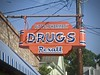 Drugs (Crawford Brian) Tags: pittstreet mountpleasant charleston southcarolina drugs rexall store sign wires utility building pharmacy vintage