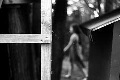 Walk by (Leica M6) (stefankamert) Tags: stefankamert leica m6 leicam6 summitar ilford fp4 film grain analog bokeh dof blackandwhite blackwhite monochrome noir noiretblanc blur blurry walk