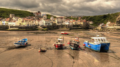 Storm over Staithes (darrenball189) Tags: staithes north england yorkshire harbour sea village coast uk coastal east fishing seaside britain beach boat colour landscape vessel scenic view port english harbor british boats outdoors seascape picturesque scenery shore summer outdoor colorful