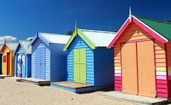 Colourful Beach Huts (Alan1954) Tags: beach huts melbourne australia brighton holiday 2010 beachhuts