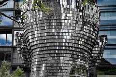 Kafka (Leaning Ladder) Tags: prague praha czech czechrepublic kafka cerny sculpture reflections statue leaningladder bohemia canon 7d