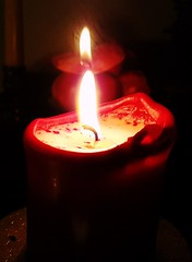 fascinated by flames (claudine6677) Tags: flame fire candle kerze flamme feuer licht light darkness