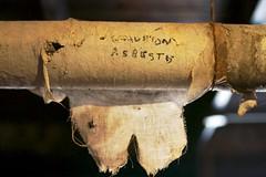 Asbestos Warhing (cogdogblog) Tags: asbestos