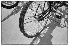 Biker (SixthOrder) Tags: 716 wny buffalo bike bw vintage elmar leica