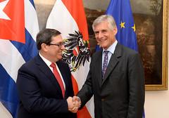Generalsekretär Linhart trifft Außenminister Von Kuba Bruno Rodriguez