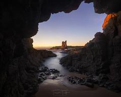 Cathedral Rocks (Trevor Tutt) Tags: cathedralrocks nsw coast cave light ocean water rocks trevortutt sunrise sun