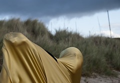 20081030©LEM-332 (lucas.mccomb) Tags: findhorn scotland uk abstract beach clouds fabric face gold grass hand head nature northernscotland outside travel weird