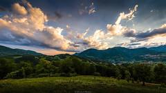 West (Nicola Pezzoli) Tags: italy italia bergamo leffe lombardia val gandino cerida mood nature ceride monte bue seriana sunset clouds panorama