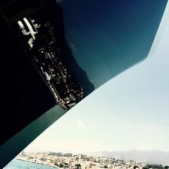 motoryacht symphony (douweplukkel) Tags: yacht sanremo ship vessel reflection bow