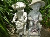 CUTE LITTLE BOY AND GIRL GARDEN STATUARY (kelsey61) Tags: gardens garden gardenlandscaping plants plant yard fleur gardenstatuary