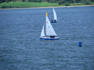 Sailboats on Draycote Water England