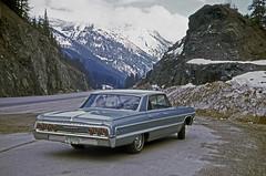 My 1964 Chevrolet Impala. (photo 1 of 2) (Brit 70013 fan) Tags: chevrolet impala 1964 glacier national park british columbia canada car automobile