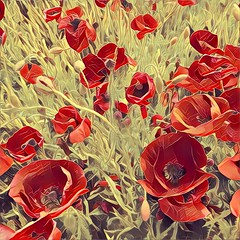 Red Popp @, Mallorca, Spain ([ PsycBob ]) Tags: mohn poppy red rot flower blume poppies sketch skizze blumen flowers nature natur