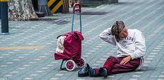 2017 - Korea - Seoul City - 8 of (Ted's photos - For Me & You) Tags: 2017 cropped korea nikon nikond750 nikonfx seoul tedmcgrath tedsphotos vignetting streetscene socks shoesoff purple seoulkorea