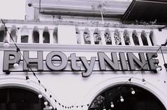 PHOty NINE (35mm) (jcbkk1956) Tags: sign ekkamai bangkok thailand street cafe mono blackwhite contax 167mt ilford pan100 analog manualfocus carlzeiss 45mmf28 35mm film worldtrekker