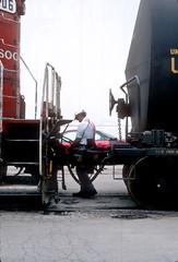 Soo 2406 switching on Lakewood June 96 6 (jsmatlak) Tags: milwaukee road soo line chicago freight train lakewood kingsbury branch switcher ce