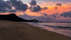 Good Morning Waikiki (spierson82) Tags: summer beach sunrise pacificocean diamondhead ocean diamondheadstatemonument honolulu oahu vacation hawaii landscape waikiki unitedstates us
