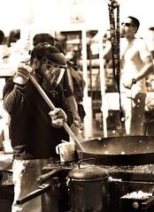 170611 Allentown Arts 78 (TheBartels) Tags: artsfestival street summer streetfood kettlecorn work monochrome toned allentown 716 buffalo food cook kettle menatwork mono