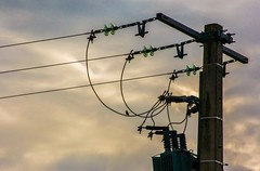 Perchoir à haute tension (Eve Eria) Tags: perchoir fil electrique haute tension